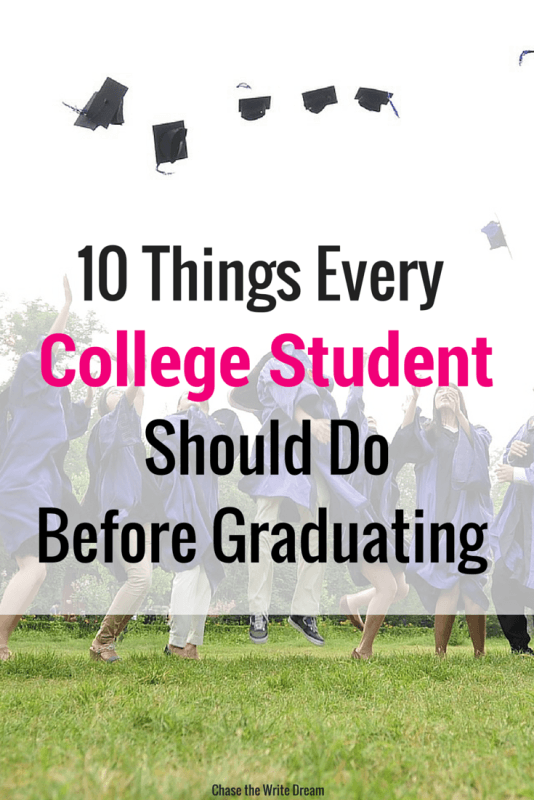 10 Things Every College Student Should Do Before Graduating - These tips are great for all students who are in school or are getting ready to graduate!
