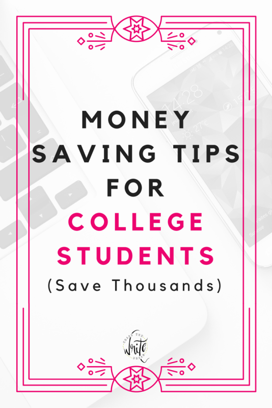 money saving tips for college students Looking for ways to save money in college, but think you can't here are 27 tips  to save money in college as a college student and still have a.
