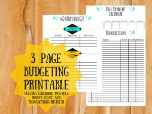 budgeting printables