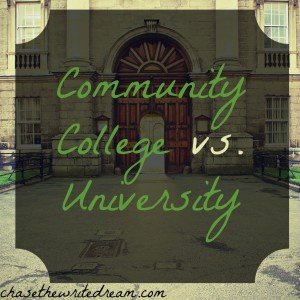 community college vs. university