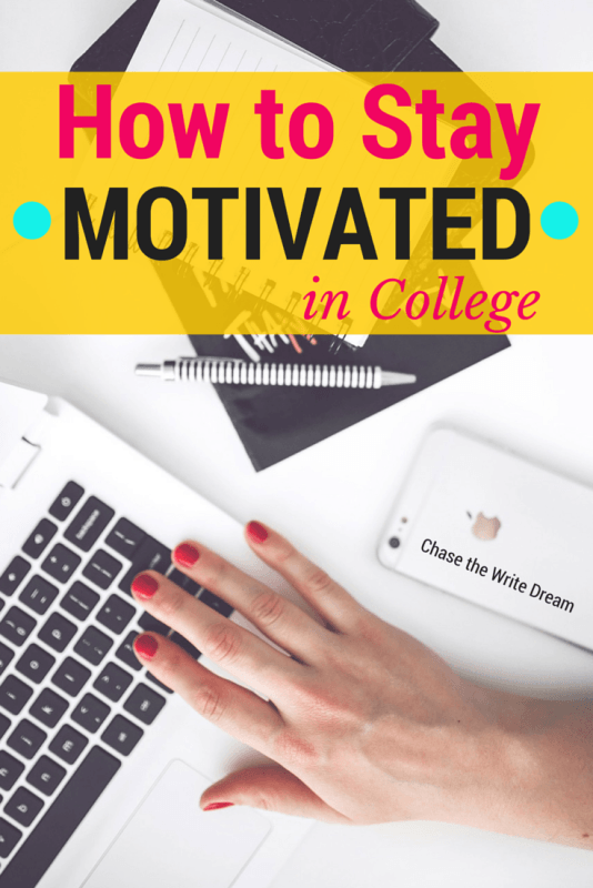 How to Stay Motivated in College: Tips for Students | Great tips for college students who are struggling with procrastination or low energy. These tips will also help with studying as well!