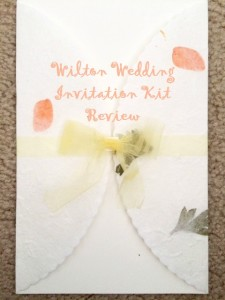 Wedding invitation kit review