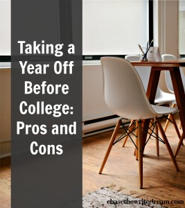 Taking a year off before college: pros and cons