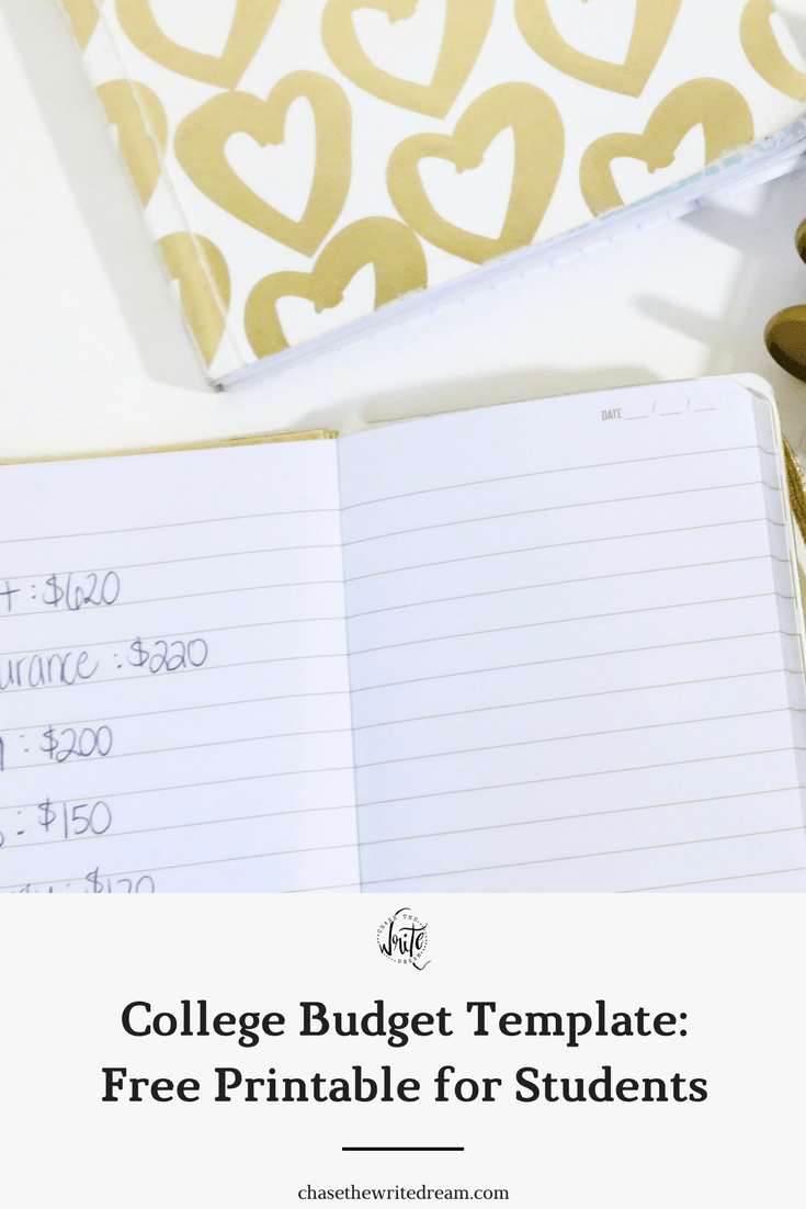 college budget template free printable for students looking for ways to save money