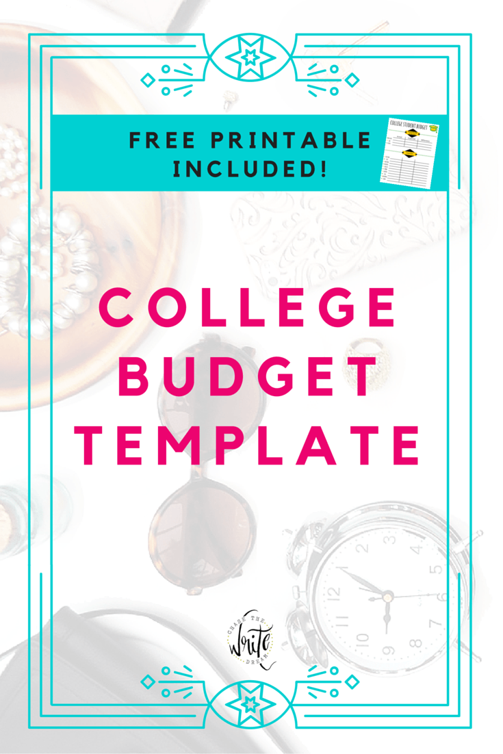 college budget template free printable for students. Black Bedroom Furniture Sets. Home Design Ideas