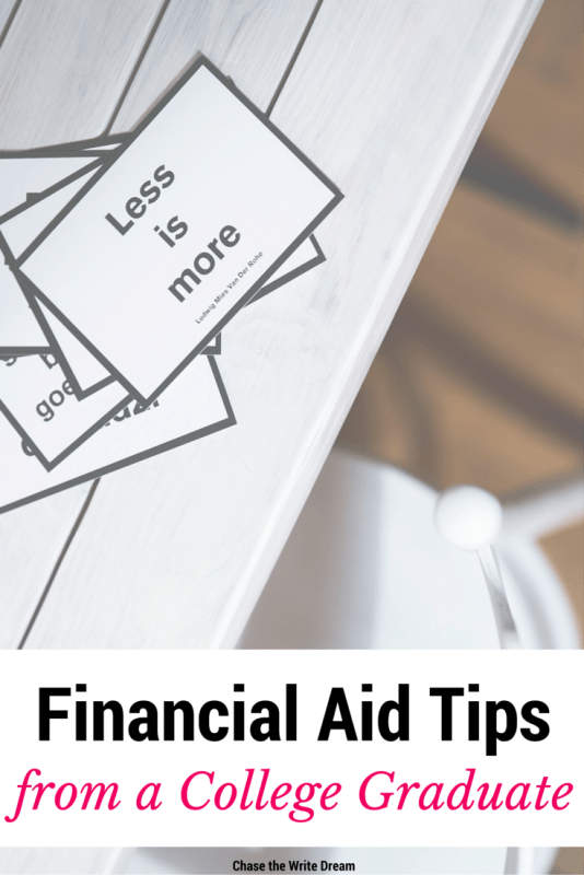 Financial Aid Tips from a College Graduate - All college students should read this and understand how to use their financial aid wisely. This graduate gives firsthand experience about how to manage student loans, ways to save money, what award letters mean, and more. Great info for parents of graduating high school seniors as well.