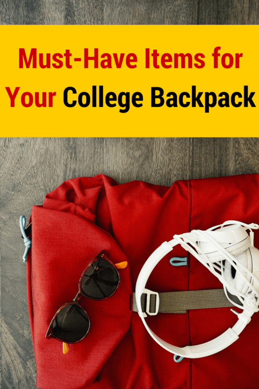 Must-Have Items for Your College Backpack: Make sure you have all the college essentials you need in class and around campus!
