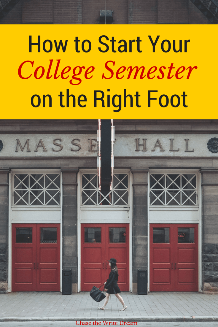 how to start your college semester on the right foot