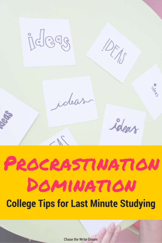 Procrastination tips for college students - Learn how to effectively study in just a few hours time with these simple tips for students. Great when you are in a time crunch! Remember, time management is key, but these tips for overcoming procrastination will help you get through.