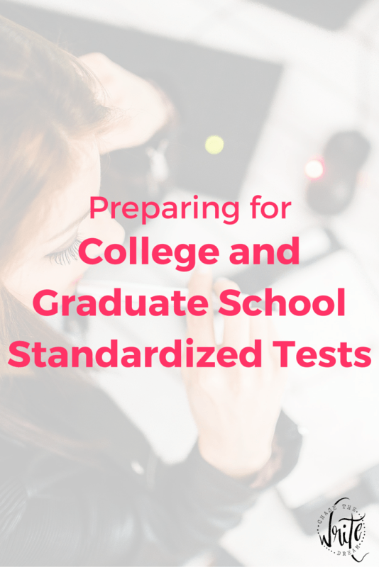 Preparing for College and Graduate School Standardized Tests | Study tips and strategies for students who want to rock their entrance exams and get into their dream program. Includes educational resources and tips from a student who has been through it. Click through to read the tips!