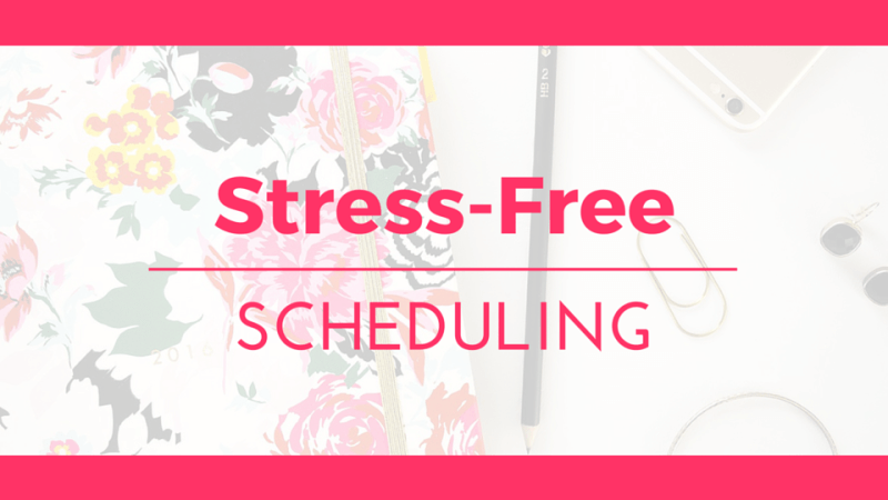 Stress-Free Scheduling Graphic