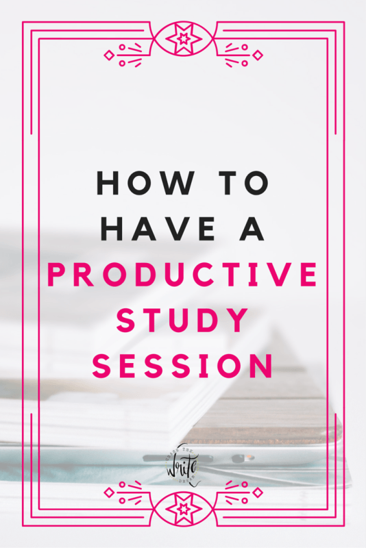 How to Have a Productive Study Session - College students who need study tips should read this! If you struggle with procrastination and want to get better grades, then click through to read these student tips for success!