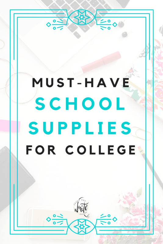 My Must-Have School Supplies for College | Every college student needs the right school supplies to be successful in school and to get good grades. These items are inexpensive and will help you stay organized so that you never miss a due date! Click through to check them out!