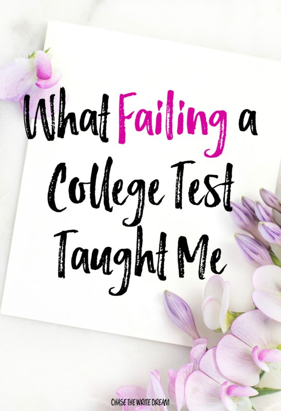 What Getting My First F on a College Test Taught Me - failing a test in college or an entire class can be tough, but there are lots of lessons students can learn from this experience! Check out how this straight A student turned a failed test into a life lesson